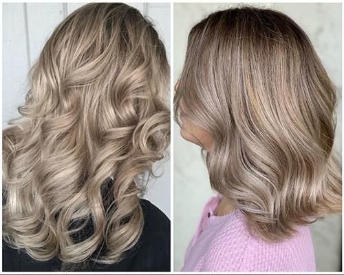 цвет волос шампань